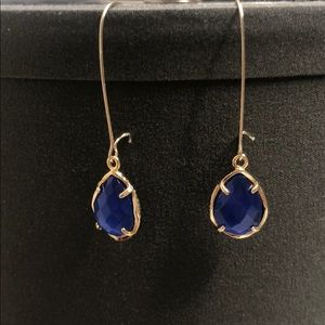 Blue Kendra earrings